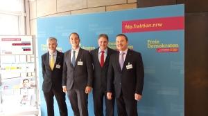v.l.n.r.: Fraktionssekretäre Dietmar Zwerger und Stefan Taber, Landtagsabgeordnete Ralf Witzel und Andreas Pöder